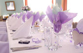 Purple wedding — Stock Photo