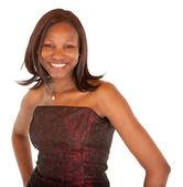 Beautiful Smiling African American Lady Posing — Стоковое фото