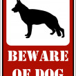 """beware of dog"" sign — Image vectorielle"