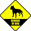 "Stock Vector: ""beware of dog"" sign"