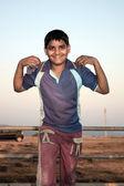 Intelligente ragazzo indiano — Foto Stock