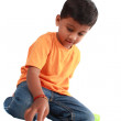 Indian Boy Playing — Stock Photo