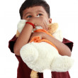 Royalty-Free Stock Photo: Indian Boy Hugging Toy