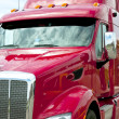 Stock Photo: Close up of red semi truck