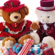 Teddy bear Christmas - Stock Photo