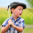 Stock Photo: Litte boy golfer