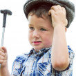 Little boy duffer — Stock Photo