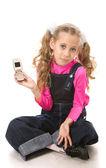 Ragazza parlando telefono — Foto Stock