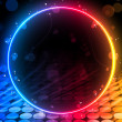 Disco Abstract Circle Box on Black Background - 图库矢量图片