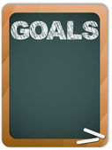 Blackboard with Goals Message written with Chalk — Stock Vector