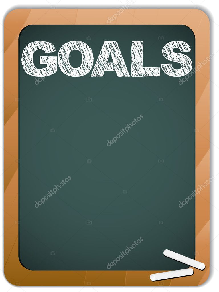 Vector - Blackboard with Goals Message written with Chalk  Stock Vector #5426160