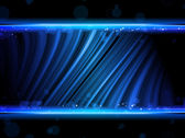 Disco Abstract Blue Waves on Black Background — 图库矢量图片