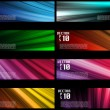 Colorful Web Banners Backgrounds — Stock Vector