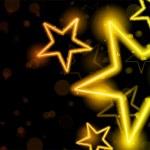 Glowing Neon Stars Background — Stock Vector