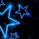 Светящийся неоновый звезд фон — Cтоковый вектор