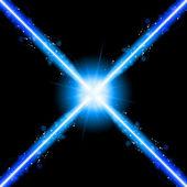 Laser Neon Blue Lights — Stock Vector