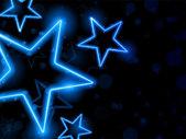 Gloeiende neon sterren achtergrond — Vector de stock