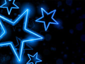 Glowing Neon Stars Background — Stok Vektör