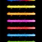 Laser luzes de néon colorido — Vetorial Stock