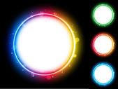 граница круга радуги с искрится и циркулирует. — Cтоковый вектор