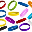 Royalty-Free Stock Vector Image: Set of colorful wristband