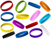 Zestaw kolorowe opaski na rękę — Wektor stockowy