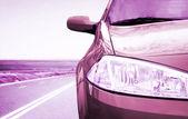 Bil på väg. — Stockfoto