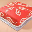 Cake with Paisley Pattern — Stock Photo #5856965