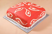 Cake with Paisley Pattern — Stock Photo