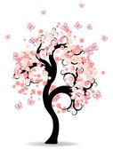 árbol de hadas — Vector de stock