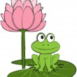 Royalty-Free Stock Vector Image: Cute Frog