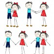 Boy and girl — Vector de stock #6330953