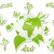 Stock Vector: Eco planet