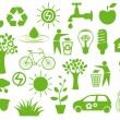 Set of eco icons - Vettoriali Stock