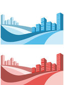 City business background — Stock Vector