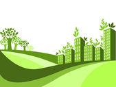 Grön stad — Stockvektor