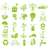 Iconos de eco — Vector de stock