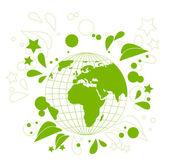Yeşil Dünya — Stok Vektör