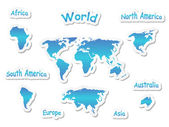 Map of world — Stock Vector