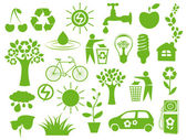 Set of eco icons — Stockvector