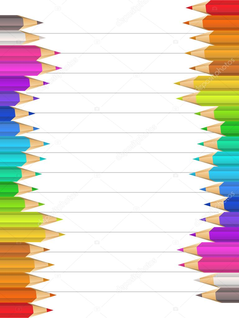 Bright background with color pencils — Stock Vector #6331037