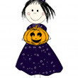 Halloween girl — Stock Vector
