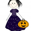Halloween girl — Stock Vector #6730485