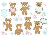 Toy bears — Stock Vector