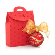 Christmas Gift Bag and Bauble - Stock Photo