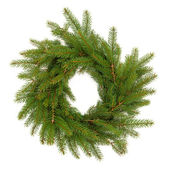 Spruce Fir Pine Wreath — Stock Photo