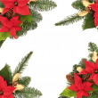 Christmas Decorative Border - Stock Photo