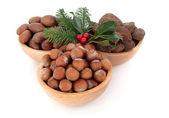 Hazelnuts, Pecan and Brazil Nuts — Stock Photo
