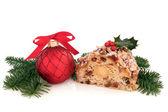 Stollen Christmas Cake — Stock Photo