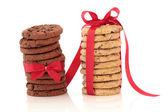 Çikolata parçalı kurabiye lokumu — Stok fotoğraf